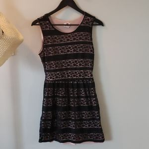 💙 5 for $20-Lacy black and pink dress